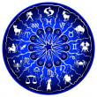 Stock Photo: Illustration of a zodiac disc