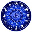Royalty-Free Stock Photo: Illustration of a zodiac disc