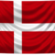 National Flag Denmark - Stock Photo
