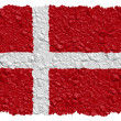 National Flag Denmark — Stock Photo