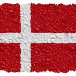 National Flag Denmark — Stock Photo