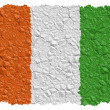 National Flag Ivory Coast — Stock Photo