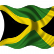 Stock Photo: Waving flag Jamaica
