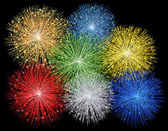 Illustration of a fireworks — Stock Photo