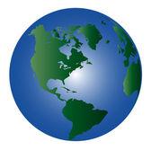 地球-世界 1 — 图库照片