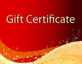 Christmas gift certificate — Stockfoto