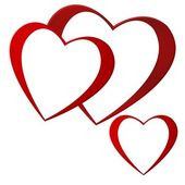 Cascading hearts — Stock Photo
