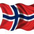 Waving flag Norway — Stock Photo #1650147