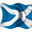 Waving flag Scotland - Stock Photo