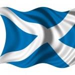 Waving flag Scotland — Stock Photo