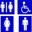 Set of restroom symbols - Stock Photo