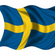 Stock Photo: Waving flag Sweden