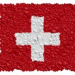 National Flag Switzerland - Stock Photo