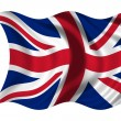 Waving flag United Kingdom — Stock Photo #1650450
