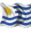 National Flag Uruguay — Foto Stock #1650479