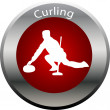 Winter game button curling — 图库照片