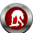 Winter game button skeleton — Stock Photo