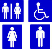 Set of restroom symbols — Stock Photo