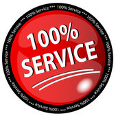 100% Service Button — Stock Photo
