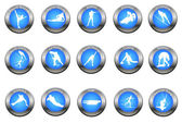 Vector set of winter sport buttons — Stock Photo