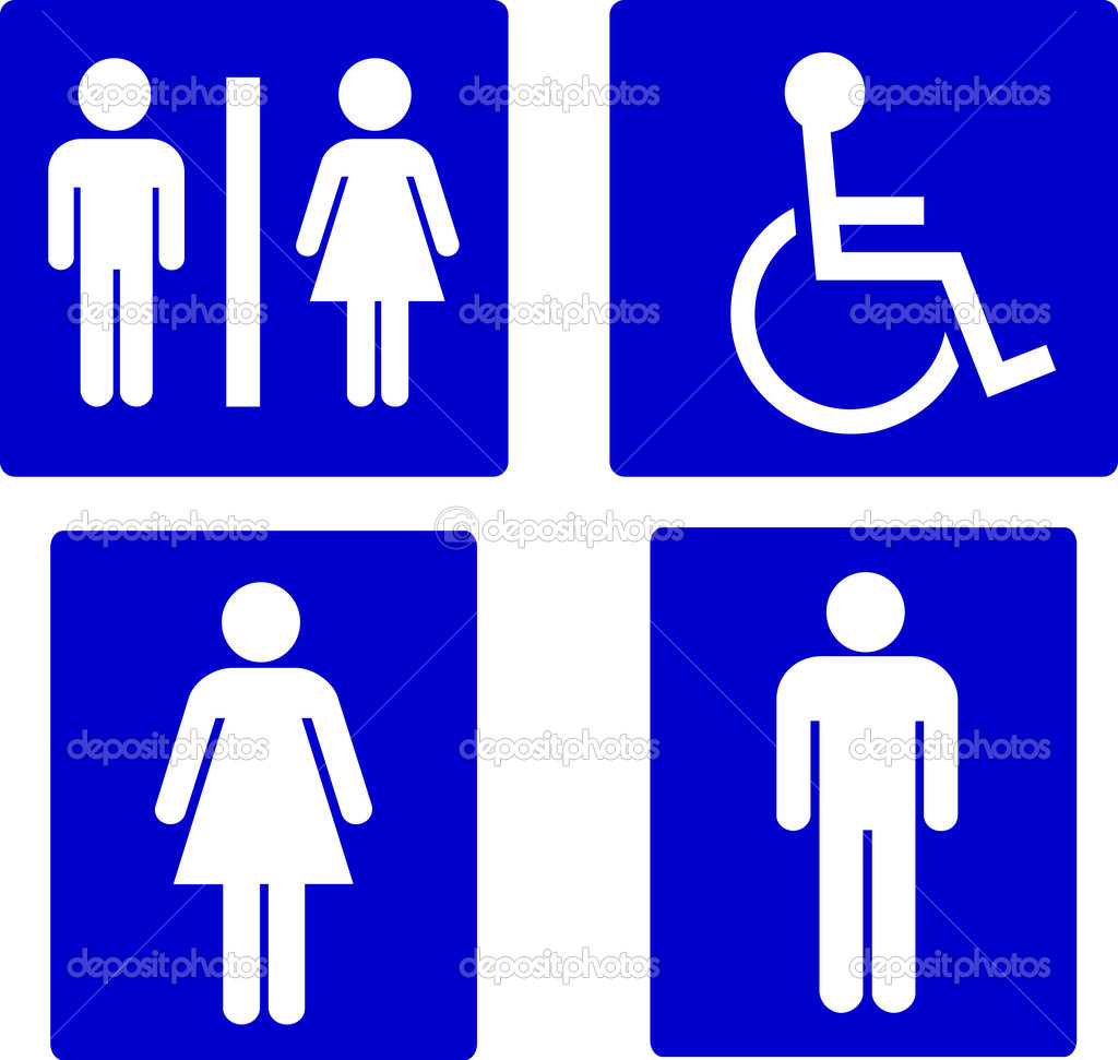 Conjunto de símbolos de banheiro — Fotografias de Stock © pdesign  #0101CA 1024x971 Baixar Banheiro Para Autocad