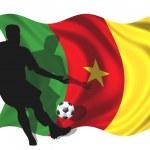Постер, плакат: Soccer player Cameroon