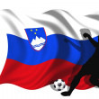 Stock Photo: Soccer player Slovenia