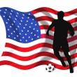 Soccer player USA — Stock Photo #1705954