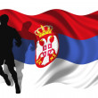 Soccer player Serbia — Stock Photo #1705957