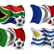 Stock Photo: Soccer team flags group A