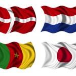 Soccer team flags group E — Stock Photo