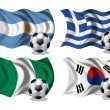 Stock Photo: Soccer team flags group B