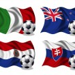Stock Photo: Soccer team flags group F