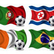 Soccer team flags group G — Photo