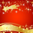 Christmas star background — Stock Photo