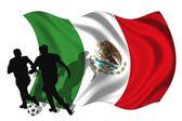 Voetbal speler mexico — Stockfoto