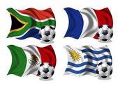 футбол команда флаги группа a — Стоковое фото