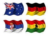 Soccer team flags group D — Stockfoto