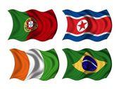 Voetbal team vlaggen groep g — Stockfoto