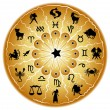 Illustration of a zodiac disc - Stock Vector