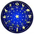 Vector de stock : Illustration of zodiac disc
