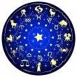 Wektor stockowy : Illustration of zodiac disc