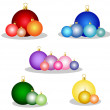 Set of colorful christmas balls — Stock Vector