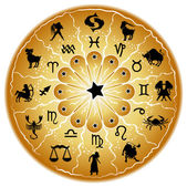 Illustration of a zodiac disc — Vettoriale Stock