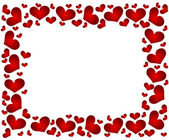 Frame with hearts — Stock Vector