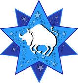 Zodiac sign taurus bull — Stock Vector