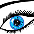 Blue Eye with lashes - Stock Photo