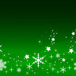 Green Christmas Background — Stock Photo