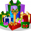 Colorful Gift Boxes on white Background — Stockfoto