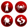 Royalty-Free Stock Photo: Red zodiac signs - set 1